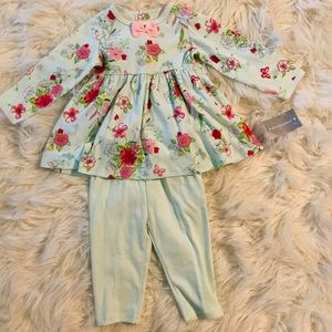 First Impressions 3-6m 2 piece dress set